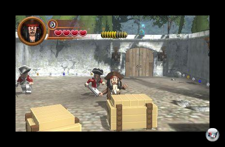 Auch die 3DS-Legopiraten sind allein unterwegs - kein Koop-Modus weit und breit.