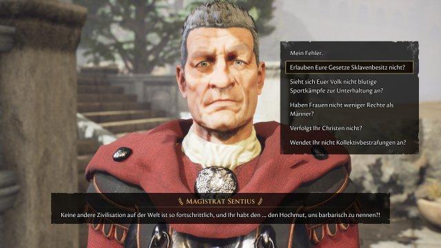 Hübsch geht anders, trotz der tristen Gesichter zählen die Dialoge zu den Stärken des Spiels.