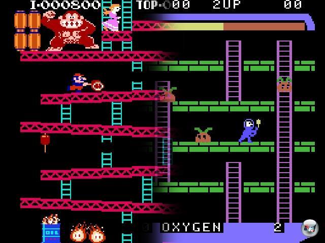 Das Jump-n-Run ist ein weites Feld: Mittlerweile wird in so ziemlich jedem Spiel, das irgendwie mit Menschen oder menschenförmigen Dingen zu tun hat, gesprungen und gerannt. Aber wir beschränken uns mal auf die klassische Definition der Plattformhüpferei, die 1981 beginnt. Eigentlich 1980, aber um Space Panic streiten die Gelehrten bis heute: Zwar erfüllt es alle Anforderungen an ein Jump-n-Run, bis auf eine wichtige - man konnte nicht springen. Der Beginn der echten Plattformära wird daher auf 1981 datiert, denn nicht nur wurde da Donkey Kong veröffentlicht, auch entstammte die Affenhatz den Händen eines gewissen Shigeru Miyamoto - von dem jungen Mann wird man im Zusammenhang mit Jump-n-Runs in den Folgejahren noch ein oder zwei Mal hören... 2100073