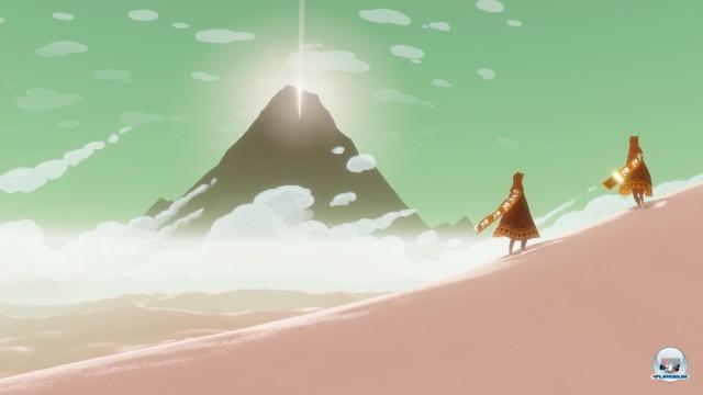 Man kann sich auch zu zweit auf den Weg zum Berg machen: Wer online spielt, trifft auch Weggefährten - aber das ist kein Muss.
