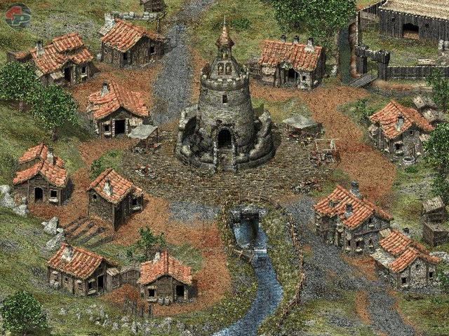Übersichtsplan einer Siedlung zur Auswahl des nächsten Orts 18700
