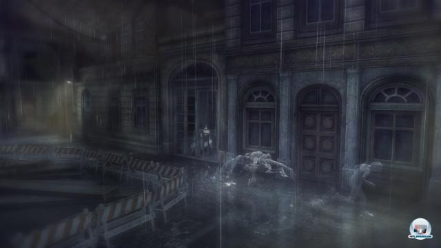 Die Monster sind ebenfalls nur im Regen sichtbar und nehmen sofort die Verfolgung auf, wenn sie den kleinen Jungen erspähen.