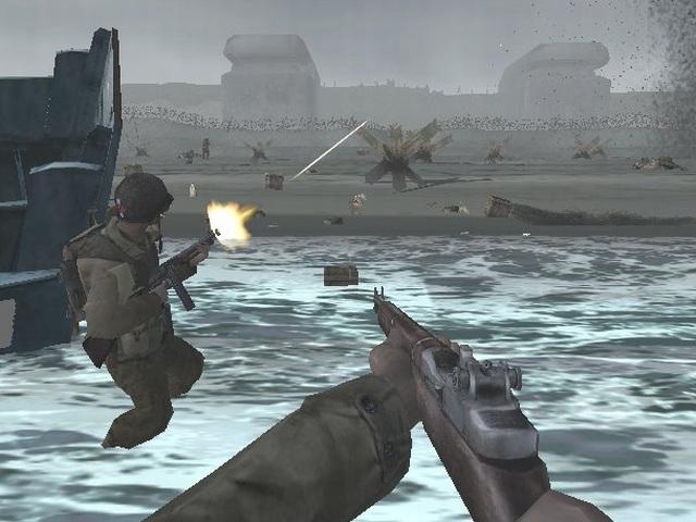Medal of Honor: Frontline (2002) <br><br> Während sich PC-Spieler mit dem hervorragenden Allied Assault vergnügen durften, bekamen PS2-Besitzer als Ausgleich Frontline geboten, das ein Jahr später auf Xbox und GameCube umgesetzt wurde. Hier ist man erstmals auch in größeren Gruppen unterwegs und spielt große Schlachten wie den D-Day oder die Operation Market Garden nach. Im Gegensatz zu den bisherigen Spielen ist dies der erste Teil, der von EA selbst entwickelt wurde. Ein Grund dafür lag sicher in der Aufspaltung von 2015 Inc, denn ein Teil der Entwickler gründete ein neues Unternehmen: Infinity Ward. In der Limited Edition des aktuellen Medal of Honor liegt der Oldie bei der PS3-Version übrigens als technisch aufgepeppte HD-Version bei. 2167428
