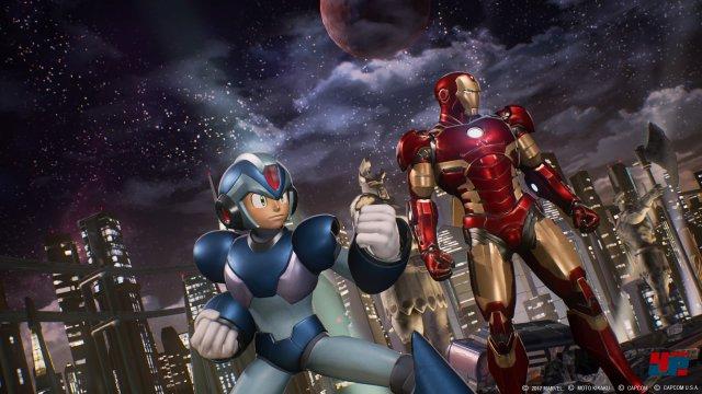"""Zwei """"Blechbüchsen"""", ein schlagfertiges Team: Mega Man X und Iron Man."""