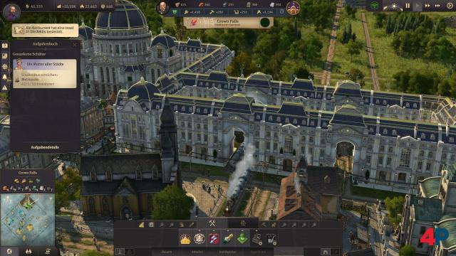 Die modulare Bauweise erlaubt große Palastbauwerke - auch mit Toren für Züge.