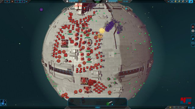 Große Schlachten auf kleinen Planeten: Man bewegt z.T. hunderte Einheiten auf einmal.