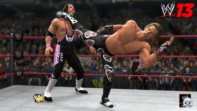 Bret Hart gegen Shawn Michaels beim Match in Montreal: Auch dieses Kapitel düsterer WWE-Geschichte wird thematisiert.