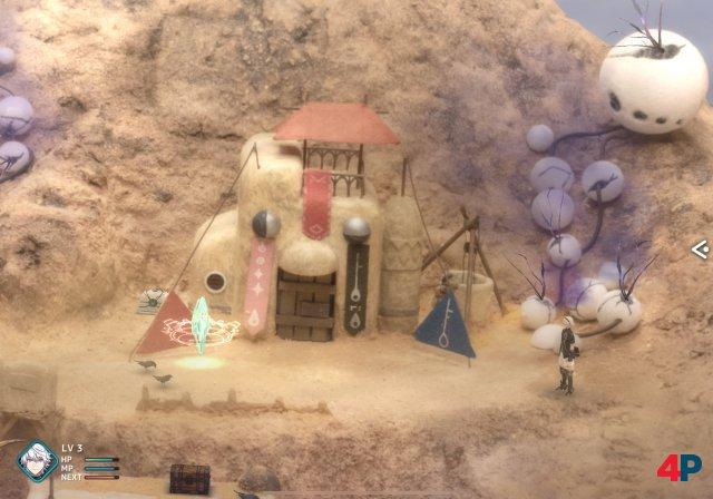 In der ersten Siedlung erinnert einiges an aus Final Fantasy II.