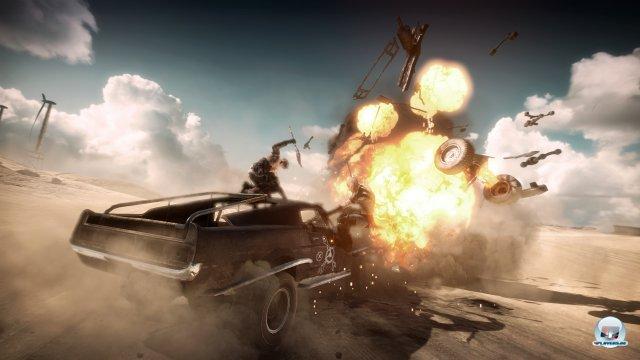 Vehikel-Kämpfe sind ein Kernelement von Mad Max.