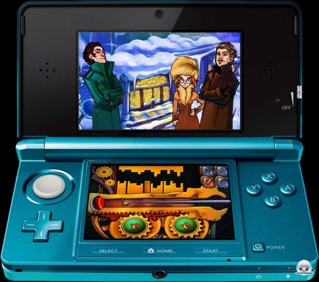 Screenshot - Sherlock Holmes: Geheimnis der gefrorenen Stadt (3DS)
