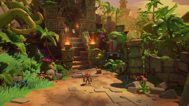 Ein Tempel in voller Pracht auf der Xbox Series X - Unterschiede zur PS5-Version muss man mit der Lupe suchen.