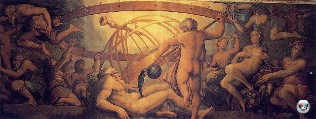 God of War ist nicht weniger brutal als seine Vorlage: Kronos entmannte auf Drängen Gaias seinen eigenen Vater mit der Sichel und wurde somit zum Herrscher der Welt. Aus dem Blut des  Uranos erschuf Gaia dann die Giganten, Erinnyen und Nymphen. 2072128