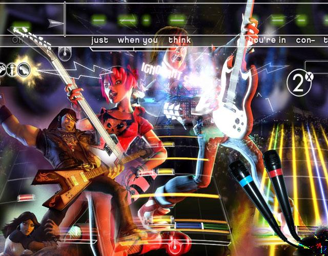 Musikspiele <br><br> Dass Musik die Gesellschaft verdirbt, kennen wir bereits aus der Vergangenheit - man denke an Rock n Roll. Mit der aktuellen Flut an Musikspielen wie Rock Band, Guitar Hero und SingStar, aber auch Brütal Legend, feiern die satanischen Texte und Gitarren-Riffs eine Wiederauferstehung des Teufels und damit dem schlimmsten Widersacher der christlich-sozialen Union. Wenn schon Musikspiele, dann bitte Schlager statt Slayer. Sony scheint es mit der Veröffentlichung einer entsprechenden SingStar-Edition bereits kapiert zu haben - jetzt sind Harmonix und Neversoft dran, bevor die Musikantenstadl-CSU den Rockmusik-Stecker ziehen... 2192557
