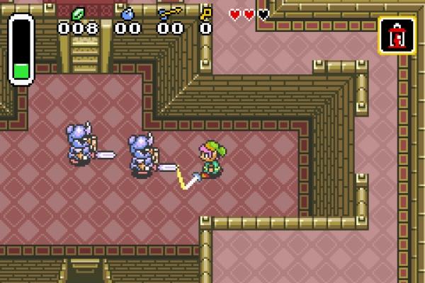 The Legend of Zelda: A Link to the Past<br><br>1991 machte die Serie einen gewaltigen Satz nach vorne: Links einziger SNES-Auftritt gilt nicht nur Spielern alter Schule als nach wie vor bester Zelda-Teil! Die Perspektive machte einen Schritt zurück zum Original, kippte die Ansicht aber leicht, es gab jede Menge Story, neue Extras, viele versteckte Boni, harte Bossfights, Multi-Level-Dungeons, die Einführung von Light und Dark World sowie den prächtigen Soundtrack aus der erfahrenen Feder von Kojo Kondo - Abenteurerherz, was begehrst du mehr? Das Spiel machte heftigen Gebrauch von den technologischen Fähigkeiten des SNES, der Autor dieser Zeilen denkt gerade verträumt an die prächtig scrollende Übersichtskarte zurück. Außerdem nutzt Zelda 3 als eines der ersten Spiele ein 8MBit-Modul, wo sonst 4MBit der Standard waren - und das reichte auch nur gerade so: Die Entwickler mussten sogar die Farbpalette für Geländeteile künstlich beschränken, damit der Hardwarehunger nicht überhand nahm! Außerdem gab es zum USA-Release Schwierigkeiten mit der Religiösität des Spiels, die für den amerikanischen Markt gelöst werden mussten: So wurden aus Priestern Zauberer, aus dem Titel »Triforce of the Gods« wurde »A Link to the Past«. 2002 gab's ein runderneuertes, feingeschliffenes Remake für GBA, das als Bonus den Mehrspielerspaß »Four Swords« enthielt - das wiederum zwei Jahre darauf ein GameCube-Revival feierte. Aber dazu gleich mehr. 1722618
