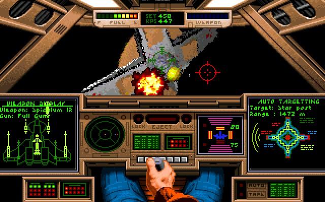 <b>Wing Commander</b><br><br>Handel? Pustekuchen! Als sich Chris Roberts anschickte, Flimmerkisten-Regisseur zu werden, war den Menschen die Lust am Weltraum-Monopoly längst vergangen. Wie will man auch um den Preis feilschen, wenn aggressive Mörder-Katzen die Erwerbsregeln brechen? Der Krieg gegen die Kilrathi galt lange als Vorreiter in Sachen interaktives Kino. Ab Teil drei war sogar Luke »Typecasting« Skywalker mit von der Partie, zahlreiche Gesichter mit garantiertem Wiedererkennungswert komplettierten die Besetzung. Ein Jammer, dass sich der enorme Aufwand offenbar nicht lohnt. Und so stellte das fünfte große Wing Commander nicht nur einen recht unrühmlichen Abgang der Serie dar, es war auch eins der letzten Spiele, in denen reale Gesichter die Hauptrolle übernahmen. Danach war Wing Commander faktisch tot – aus so vielen Gründen. 2059388