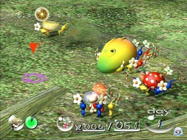 <b>Pikmin</b><br><br> Neben allerlei Franchise-Recycling rief Nintendo auch eine neue Marke ins Leben. Die Idee zu Pikmin kam Shigeru Miyamoto bei der Gartenarbeit. In dem Strategietitel schickt man wuselige kleine Blattwesen in den Kampf und lässt sie wie Ameisen schwere Gegenstände transportieren. Zwei Jahre später erschien ein gelungener Nachfolger, für Wii U ist ein dritter Teil in Arbeit. Wir freuen uns darauf! 2347007