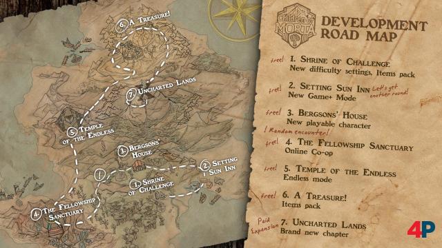 Der Update-Fahrplan für Children of Morta. Aktuell bei 2/7.