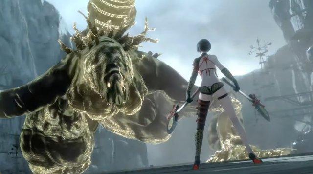Kaine ist eine der spannendsten Figuren im NieR-Universum - trotz ihrer knappen Klamotten fasziniert sie in erster Linie durch ihre loses Mundwerk.