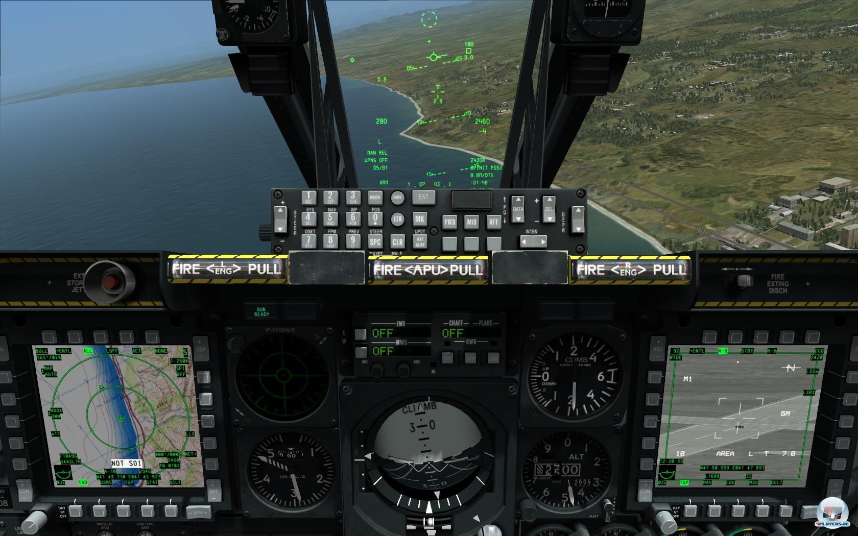 Das Cockpit der A-10C.