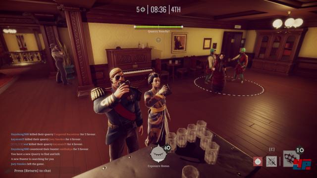 Trinkt man mit einem harmlosen Gast oder steht da ein Jäger nebenan?