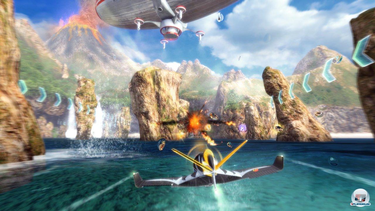 Coole Effekte, idyllische Kulissen: SkyDrift sieht überraschend gut aus.