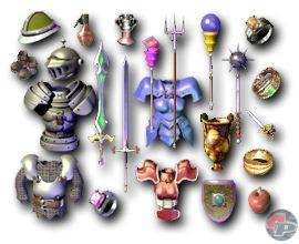 Das Equipment wird am Körper der Charaktere dargestellt. Außer in Shops kann man auch innerhalb von Guilds handeln. 18691