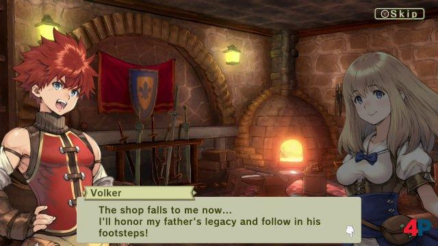 Hofschmiedsohn Volker versucht in die Fußstapfen seines Vaters zu treten.