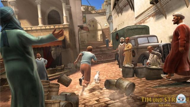 Screenshot - Tim und Struppi: Das Geheimnis der Einhorn (PlayStation3)