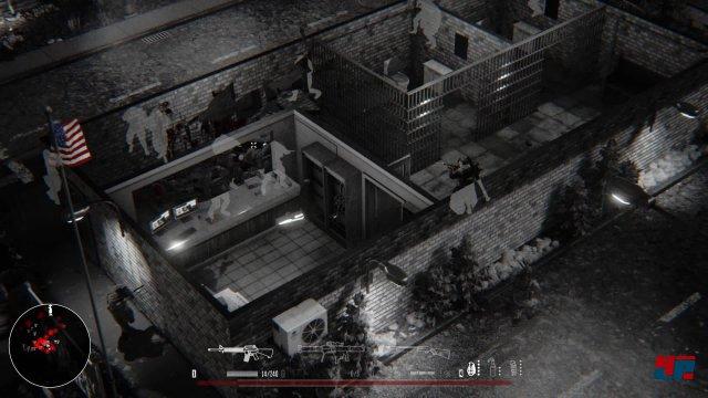 Die KI ist madig: Ausgebildete Soldaten kommen wie an der Perlenschnur durch die Tür, um abgeschossen zu werden.