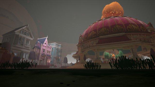 In der Kuppel rechts findet man die gesamte Spielwelt in klein wieder - hier ist die Spielfigur schon recht klein im Vergleich zur Architektur.