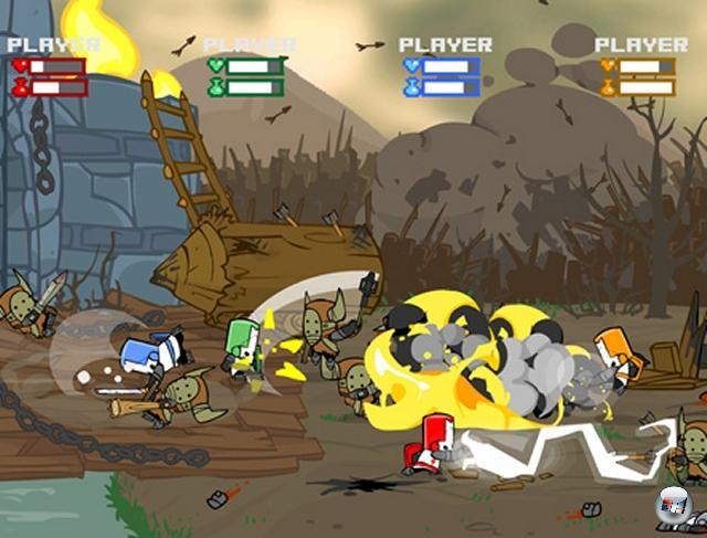 Das klassische Hack-n-Slay gibt es eigentlich kaum noch - okay, THQs Conan ging sehr deutlich in die Richtung, wobei die grausam geschnittene deutsche Fassung eigentlich eher in den Bereich Schmus-n-Kuschel einzuordnen ist. Das wichtigste Hack-n-Slay der Neuzeit ist folgerichtig auch ein Arcade-Titel - genau genommen ein Xbox Live Arcade-Spiel: Castle Crashers vereint alle Tugenden der alten Schlitzerschule unter einem wundervollen Comic-Mantel, und verziert das Paket mit einem (mittlerweile sogar passabel funktionerenden) Online-Vierspielermodus. 2074813