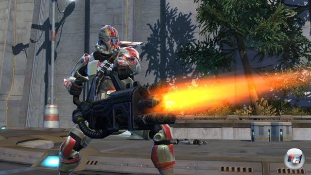 Der Soldat auf Seiten der Republik verfügt über mächtige Distanzwaffen.