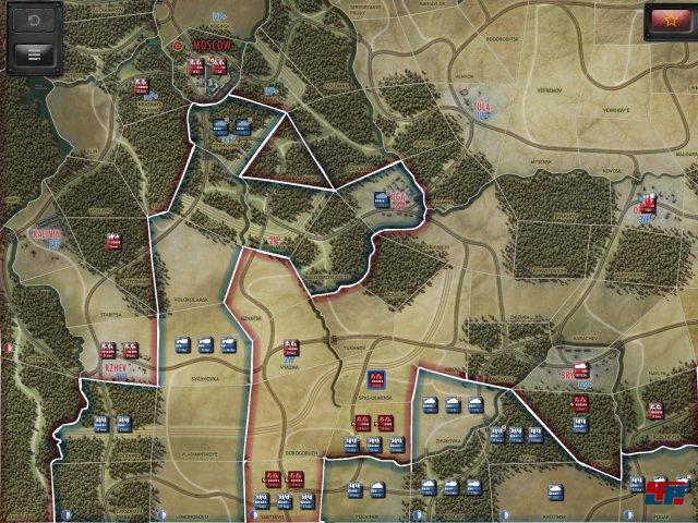 Auf der zoombaren Karte erkennt man seine Truppen aus der Vogelperspektive. Ein Klick in eine Region und man kann sie bewegen.