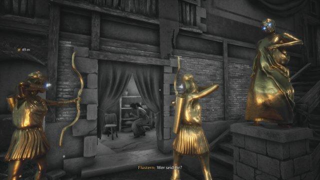 Wurde hier etwa die goldene Regel verletzt? Dann donnert eine Stimme vom Himmel und goldene Jäger töten die Bewohner.
