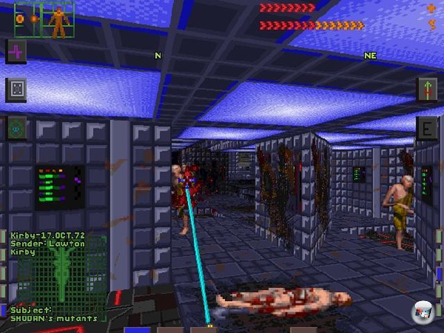 <b>System Shock</b><br><br>Nun mag man natürlich aus gutem Grund anführen, dass BioShock ja irgendwie der geistige Nachfolger von System Shock ist. Aber eben nur geistig. Die Mischung aus Sci-Fi-Shooter, Survival Horror, Adventure und der omnipräsenten Gefahr von Shodan ist bis heute unerreicht. Außerdem gibt es viel zu wenige Games, in denen der Spieler als <i>»jämmerliche Kreatur aus Fleisch und Knochen«</i> bezeichnet wird. 1966088