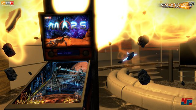 Meteore und gleißende Explosionen: Die Zen Studios sorgen dafür, dass Flippern in der virtuellen Realität zu einem Erlebnis wird.