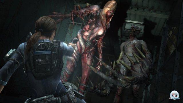 Die Episoden mit Jill Valentine orientieren sich eher am klassischen Survival-Horror.