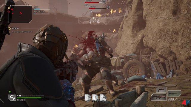 Im Shooter-Mix Outriders geht es - typisch People Can Fly - brachial zur Sache.