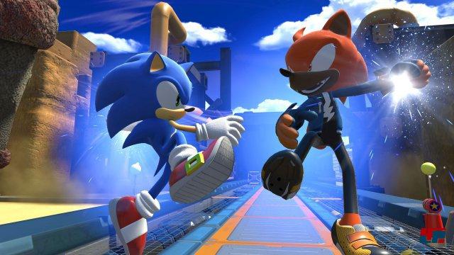 In Sonic Forces kann man mit einem selbst kreierten Helden an Sonics Seite kämpfen.