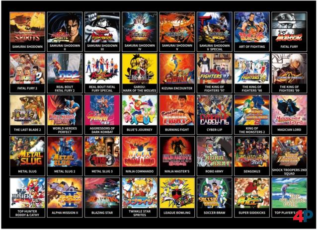 Diese 40 Spiele sind Teil der limitierten Samurai-Shodown-Edition des Neo Geo Mini. Die Auswahl ist spielmechanisch abwechslungsreicher als beim Original-Release, man vermisst aber weiterhin ein paar essenzielle Klassiker.