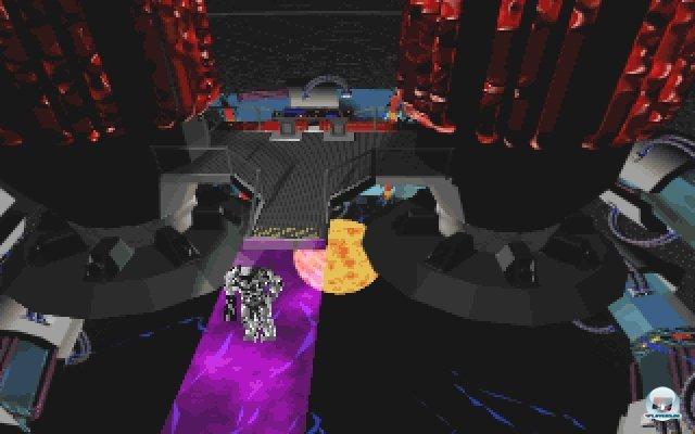 Neben den Kämpfen und Puzzles gab es auch viele Geschicklichkeitseinlagen, teilweise unter heftigem Zeitdruck. An dieser Stelle muss z.B. ein vor der Explosion stehender Reaktor abgeschaltet werden.