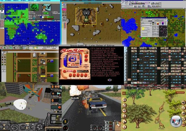 Das Resultat: Maxis versimste so ziemlich alles, was versimsbar war! SimEarth (1990), SimAnt (1991), SimLife (1992), SimFarm (1993), SimTower (1994), SimTown (1995), SimCopter (1996), Streets of SimCity (1997), SimSafari (1998) und noch viele mehr - eine gewisse Tendenz ist schwer zu übersehen. Am Besten wurde dieser Sim-Wahn wohl im bereits 1991 erschienenen Space Quest 4 zusammengefasst: Mit der glorreichen Verarschung »SimSim - The Simulator Simulator«. 2055553