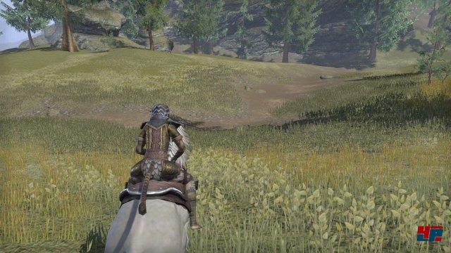Ohne Pferd sind die Wege durch das idyllische Cyrodiil kaum zu ertragen.