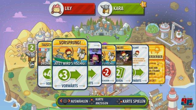 Über Karten bewegt man sich im Showdown-Modus über ein Spielbrett.