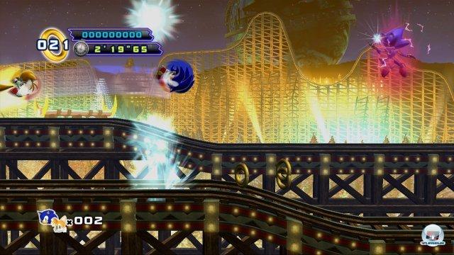 Grgundsätzlich ist das Spiel sehr leicht - lediglich die Bosskämpfe (hier gegen Metal Sonic) sind herausfordernder.