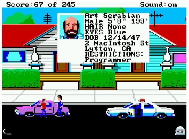 Screenshot - Police Quest: In Pursuit of the Death Angel (PC)