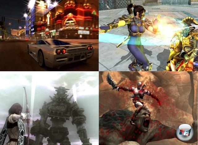 Was die PS2 im Nachhinein so besonders bemerkenswert macht, ist der grafisch und spielerisch extreme Unterschied zwischen den Starttiteln und den Spielen im späteren Lebenszyklus. Stellt man allein Tekken Tag Tournament und Tekken 5 nebeneinander, könnte man vermuten, es hier mit zwei unterschiedlichen Konsolengenerationen zu tun zu haben. Aber niemand hätte es anfangs für möglich gehalten, dass auf der PlayStation 2 jemals (in jeder Hinsicht) Hammer-Titel wie God of War, Shadow of the Colossus, Gran Turismo 4 oder Soul Calibur 3 möglich wären! 2177348