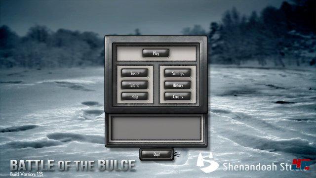 Battle of the Bulge wurde nahezu 1:1 vom iPad auf den PC übertragen; man kann keinerlei Grafikeinstellungen vornehmen.