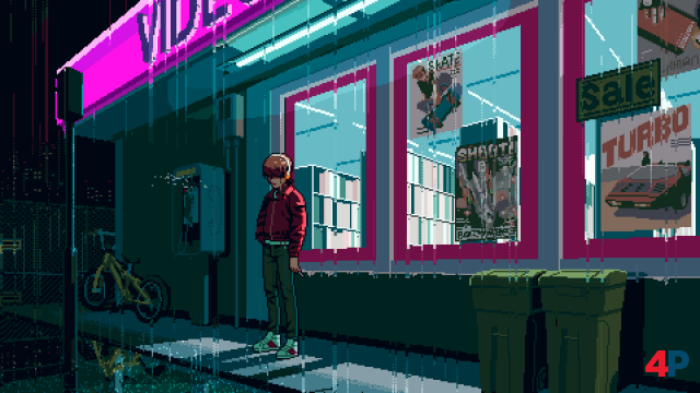 Ein verregneter Samstagabend Ende der 1980er, nichts zu tun - es locken nur Videothek und Arcade.