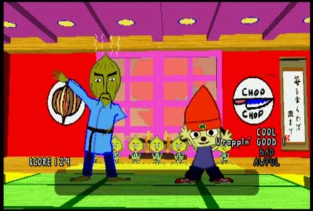 Parappa the Rapper <br><br>  Der außergewöhnliche Stil stammt aus der Feder des amerikanischen Künstlers Rodney Greenblat, der sich auch in Japan großer Beliebtheit erfreut. Genau wie bei Nintendos Paper Mario-Serie werden auch hier zweidimensionale Figuren in einen 3D-Hintergrund eingebettet. Dabei entsteht der Eindruck, als wären die Figuren aus einem Papierbogen heraus geschnitten worden. Übrigens gibt der Titel selbst einen Hinweis auf den Stil: Parappa bedeutet auf Japanisch so viel wie